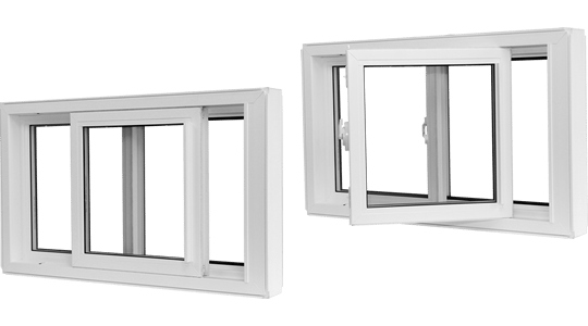 Image of slider windows both opened and detached.